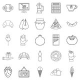 Hash house icons set, outline style Stock Image