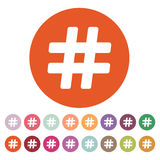 The hash icon. Hashtag symbol. Flat Royalty Free Stock Image