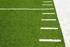 Hash marks on American football field Royalty Free Stock Image