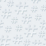 Hash tag seamless background Royalty Free Stock Photo