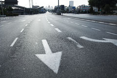 Early Morning Vacant Intersection Royalty Free Stock Image