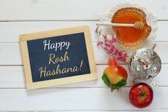 Hashanah de Rosh (Año Nuevo judío) Símbolos tradicionales Fotos de archivo