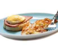 Hashbrown and eggs breakfast Royalty Free Stock Photo