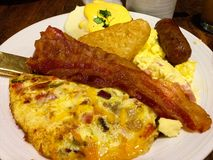 Hashed de potato breakfast buffet stock photography