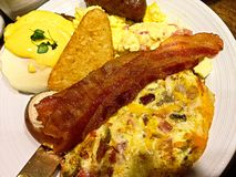 Hashed de potato breakfast buffet royalty free stock photo