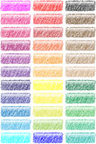Hashed web buttons. Childlike hashed web buttons set Stock Photography
