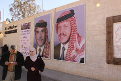 Hashemite koninkrijk van Jordanië stock foto's