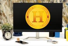 Hashgraph un nuovo Cryptocurrency da lanciare presto Immagini Stock