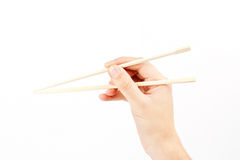Hashi in hand Royalty Free Stock Photo