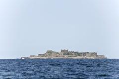 Hashima island. The ruin old coal island in Japan called Hashima Royalty Free Stock Image