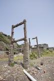 Hashima island. The ruin old coal island in Japan called Hashima Stock Images