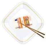 Hashis da placa e cinqüênta euro- blocos Imagem de Stock