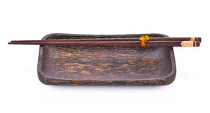 Hashis de madeira com placa de madeira Imagens de Stock Royalty Free