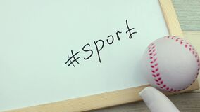 Hashtag体育和棒球球 股票录像