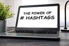 Hashtag岗位病毒网网络媒介标记事务 免版税库存照片