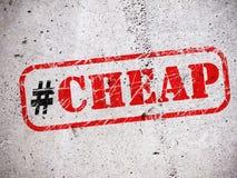 Hashtag дешево на стене иллюстрация вектора