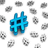 Hashtag Lizenzfreies Stockfoto