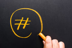 Hashtag Immagine Stock Libera da Diritti