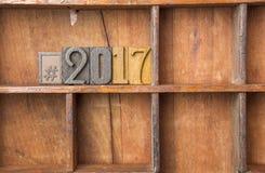 Hashtag 2017 Imagens de Stock Royalty Free