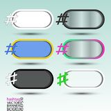 Hashtag banner abstract for background oval transparent Stock Images