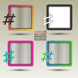 Hashtag banner abstract for background square transparent Stock Photography