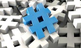 Hashtag begrepp Arkivbild