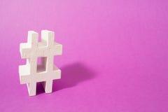 Hashtag Begriffsbild, setzen Ihr folgendes Wort oder Werbung Lizenzfreie Stockfotos