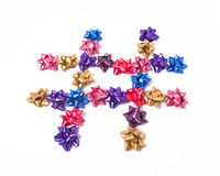 Hashtag of Bows Royalty Free Stock Image