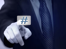 Hashtag. Hashtag business, internet, technology concept Royalty Free Stock Photography