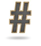 Hashtag concept Royalty Free Stock Image