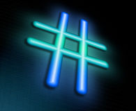 Hashtag concept. Royalty Free Stock Image