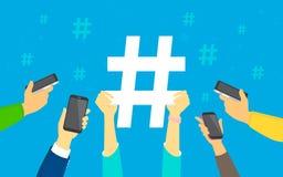 Hashtag concept illustration Stock Photos