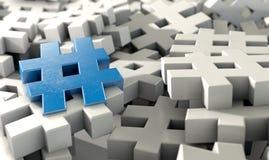 Hashtag Concept Stock Photos