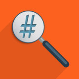 Hashtag. Concept for The Information Age, The Digital Revolution and quick access to information. Flat design illustration Vector Illustration