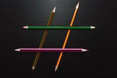 Hashtag de lápices Imagenes de archivo
