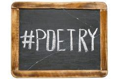 Hashtag de la poesía imagenes de archivo
