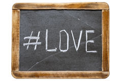 Hashtag franc d'amour Photos libres de droits