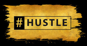 Hashtag hustle in gold Stock Photos