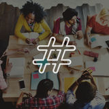 Hashtag Icon Social Media Blog Post Concept Stock Images