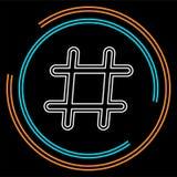 Hashtag ikona element ilustracja royalty ilustracja