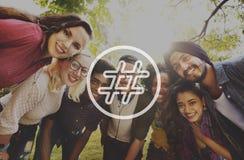Hashtag ikony blogu poczta Ogólnospołeczny Medialny pojęcie Zdjęcia Stock