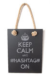 Hashtag. Keep calm and hashtag on Stock Photo