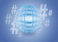 Hashtag-Kugel Stockbild