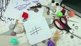 Hashtag-Kunst und kreativer Raum stock video