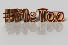 Hashtag Me too in red letters on white background Royalty Free Stock Photo