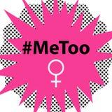 Hashtag MeToo wektorowa ilustracja w komiksu stylu Zdjęcia Royalty Free