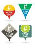 Hashtag set, communication sign. Royalty Free Stock Photos