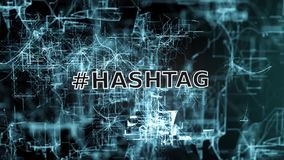 Hashtag sign stock video footage