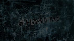 Hashtag sign stock footage