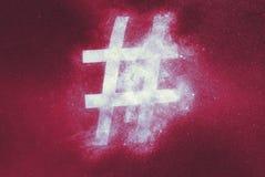 Hashtag sign, Hashtag symbol. Abstract background. Symbol stock illustration